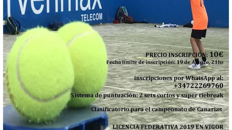 Campeonato de tenis benjamín de La Palma
